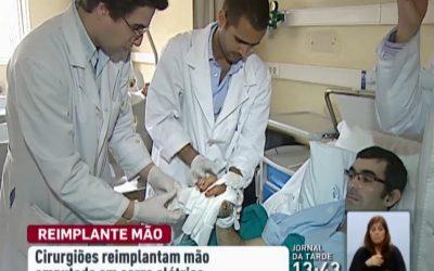 Cirurgiões do Hospital de Gaia reimplantam mão amputada em acidente